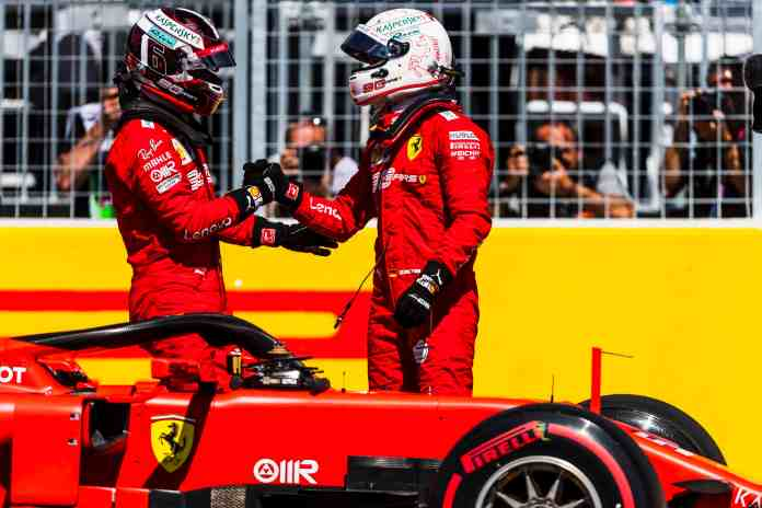 2019 Canadian Grand Prix, Saturday - Sebastian Vettel & Charles Leclerc