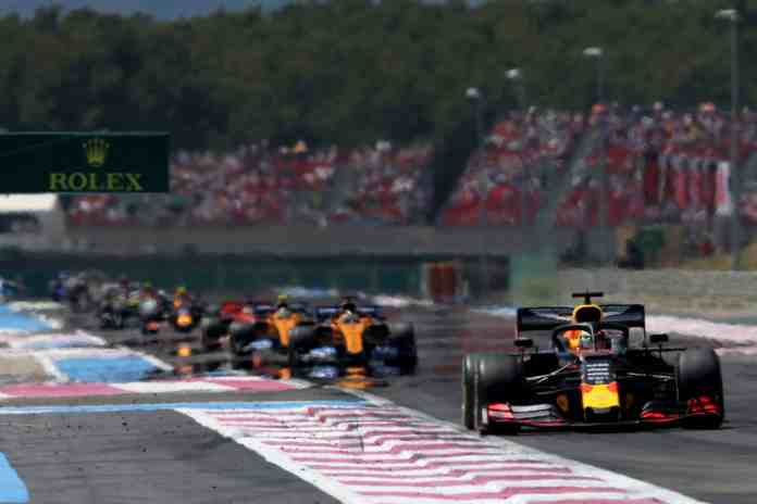 2019 French Grand Prix - Max Verstappen leads McLaren's Carlos Sainz and Lando Norris