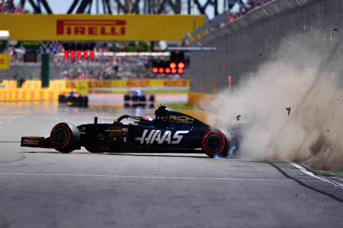 2019 Canadian Grand Prix, Saturday - Kevin Magnussen crashes during qualifying