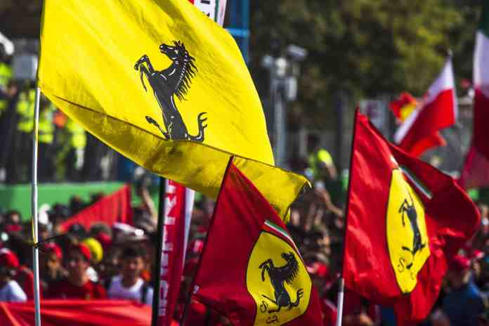 2019 Italian Grand Prix, Sunday - The tifosi celebrate (image courtesy Ferrari Press Office)