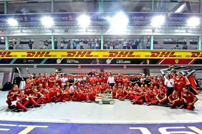 2019 Singapore Grand Prix, Sunday (image courtesy Scuderia Ferrari Press Office)