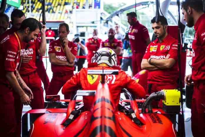 2019 Brazilian Grand Prix, Day 1 - Sebastian Vettel (image curtesy Ferrari Press Office)