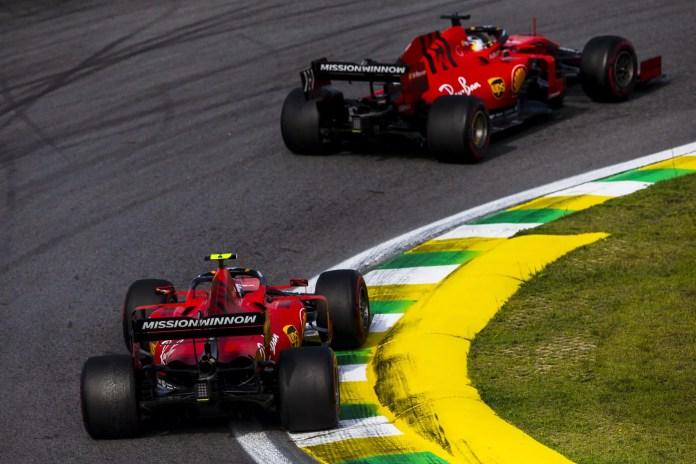 2019 Brazilian Grand Prix, Sunday - Charles Leclerc and Sebastian Vettel (image courtesy Scuderia Ferrari Press Officer)