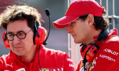 F1 FERRARI JOHN ELKANN RENEWS HIS CONFIDENCE IN MATTIA BINOTTO