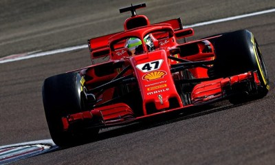 MICK SCHUMACHER DRIVING THE SF71H IN FIORANO TODAY