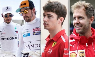 THE FIRST FEW RACES I WAS QUITE INTIMIDATED BY F1 STARS - LECLERC
