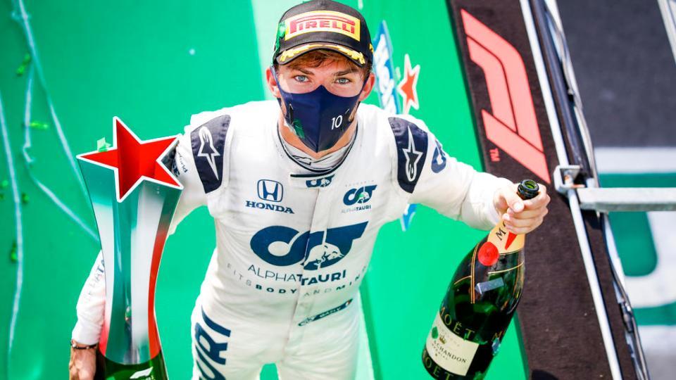 Gasly remporte le Grand Prix d'Italie 2020 © Photo Florent Gooden / DPPI