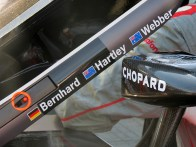 Detail of the Porsche 919 Hybrid no. 1 during the post qualifying scrutineering.