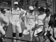 The drivers before the interviews on the grid. A bit like a high school, isn't it?
