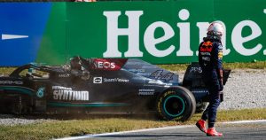 Hamilton 'surprised' Max did not check he was okay