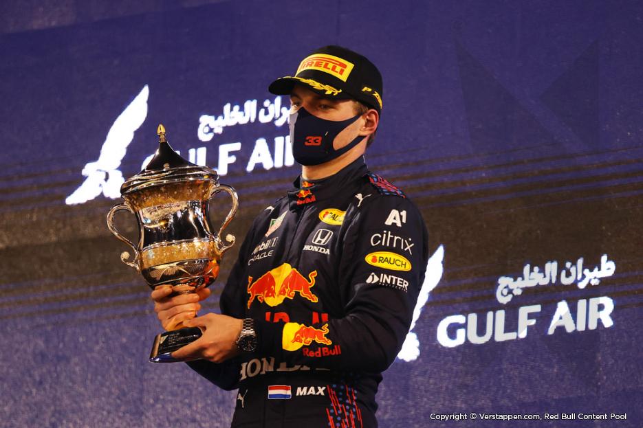 Max Verstappen tweede in GP van Bahrein: 'Moeten het positieve eruit halen'
