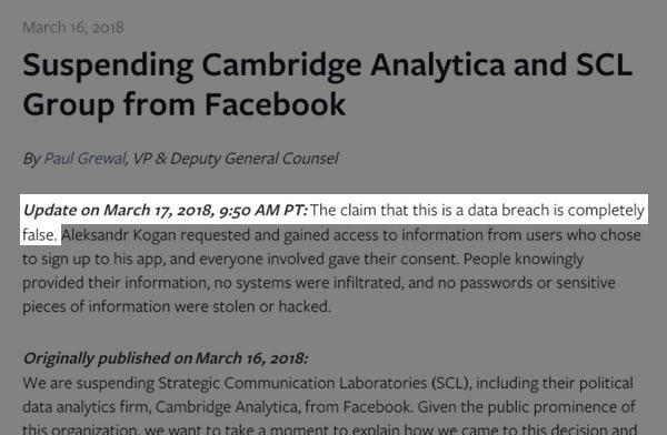 Not data breach