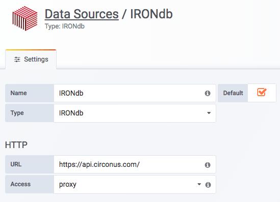 Data Source basic settings