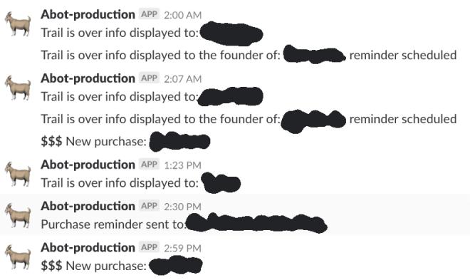 Abot Slack notifications