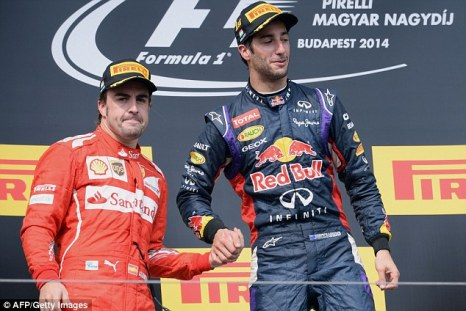The Hungarian podium felt like a win to both drivers. Photo by AFP/Getty Images