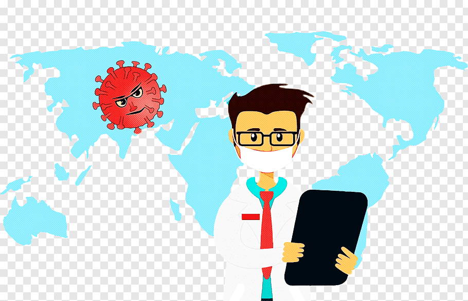 Corona Virus Cartoon Clipart