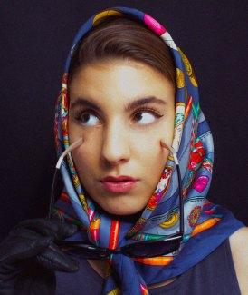 Natalie som Audrey Hepburn. Foto: Nina Kolstad