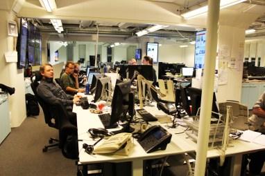Oversikt over desken, innenriks og utenriks. Foto: Emilie Boryszewski
