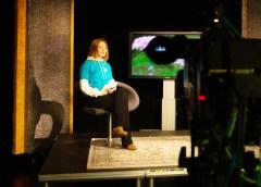 Direktesending fra TV-studio. Foto: Tuva Holmes Bergersen