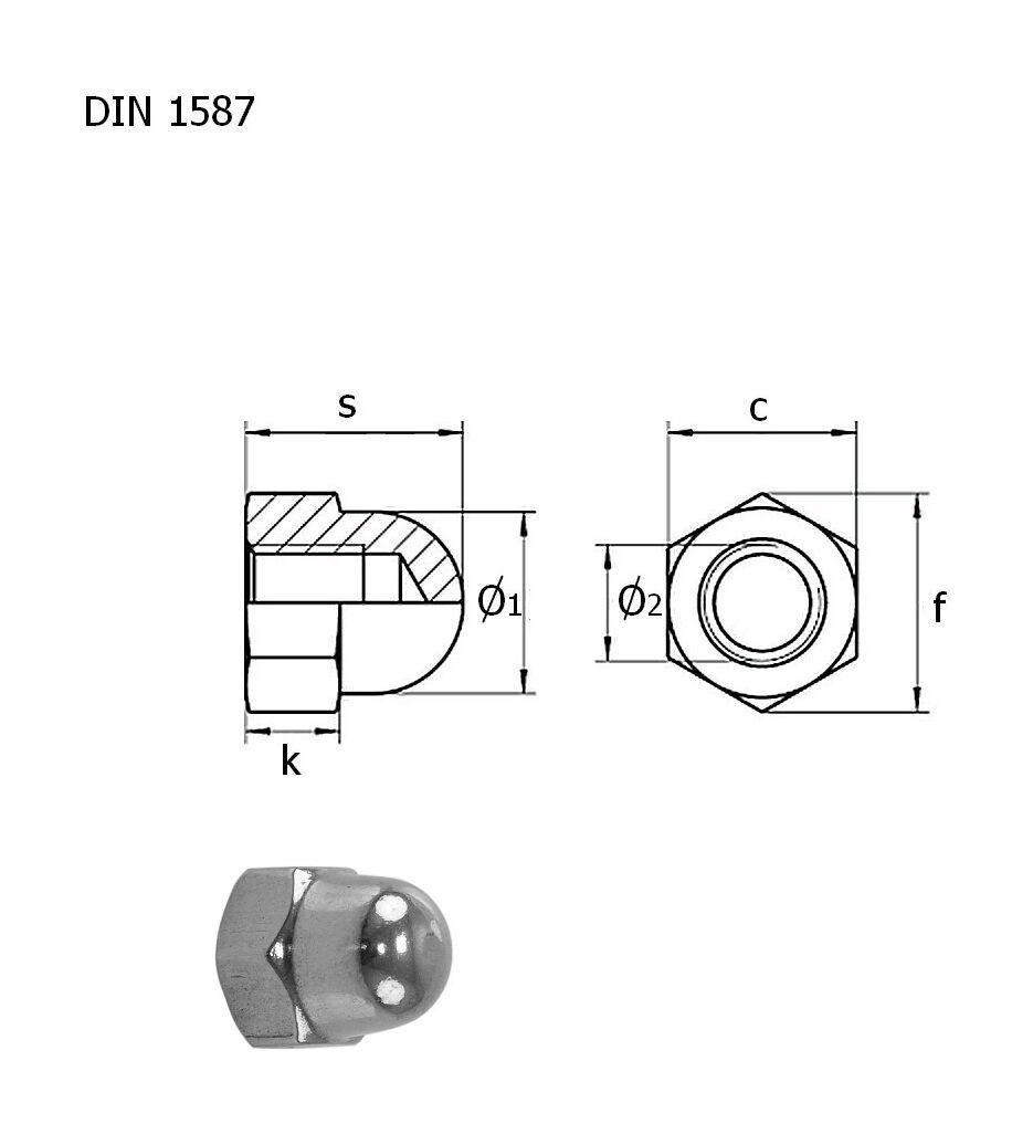 Cap nut A4 DIN1587 M8 packaging 1/10 barcode: gajka_M8_A4