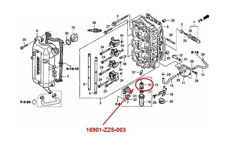 Honda Outboard Parts Diagram Model Bf45a. Honda. Auto