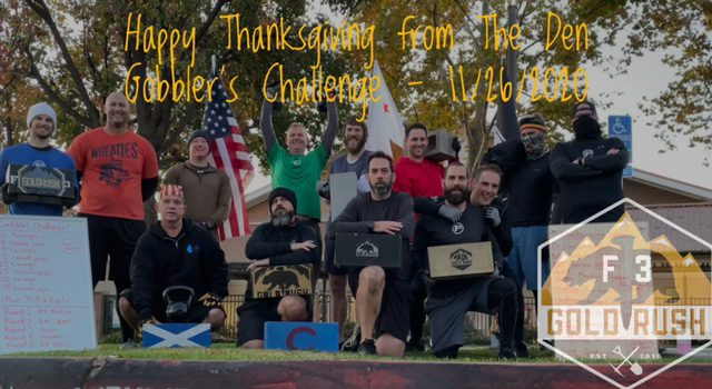 Gobbler's Challenge at The Den – 11/26/2020