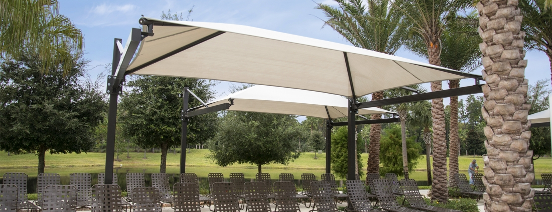 wind shade high capacity structures