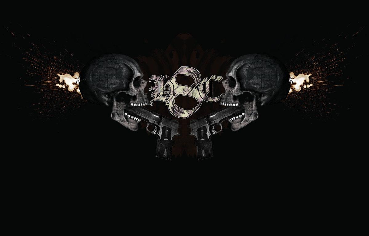 skulls guns t shirt