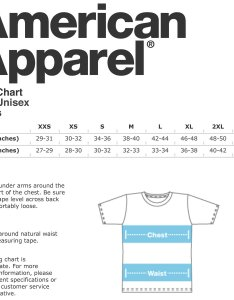 also american apparel shirt size chart rh tissino