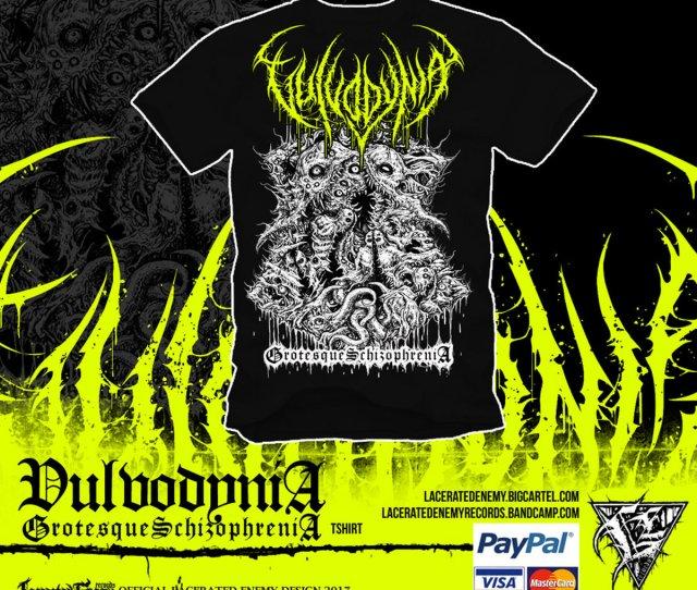 Vulvodynia Grotesque Schizophrenia Neon Yellow Logo Main Photo