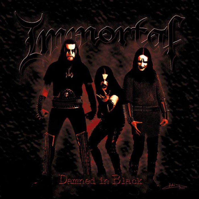 Image result for Immortal – Damned in Black album cover