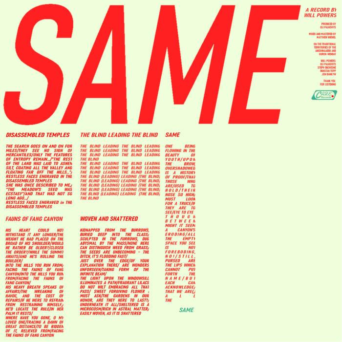 Same | Will Powers