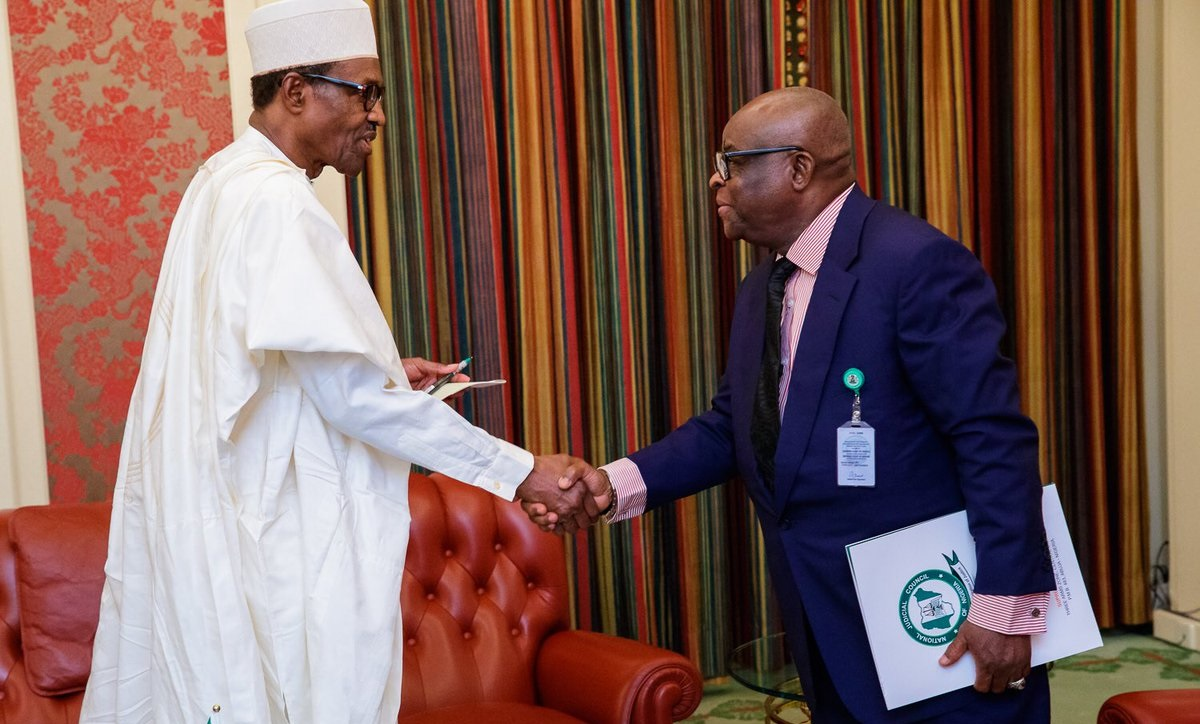 Image result for Buhari accepts Onnoghen's resignation — two months after