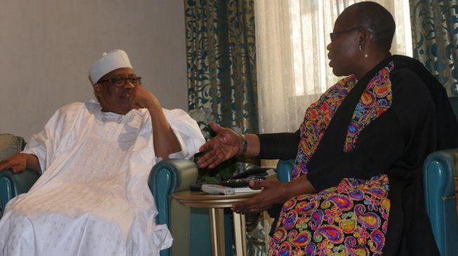Image result for PHOTO: Oby Ezekwesili holds 'secret' meeting with IBB in Minna