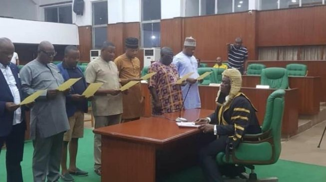 Edo assembly crisis worsens as 9 pro-Obaseki lawmakers get inaugurated 'secretly'