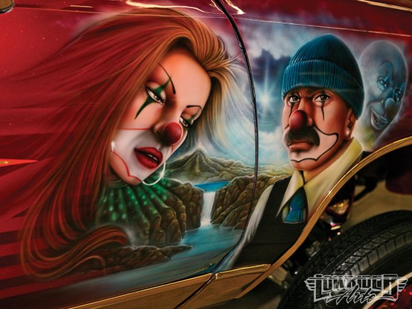 Airbrush Lowrider Art Clown