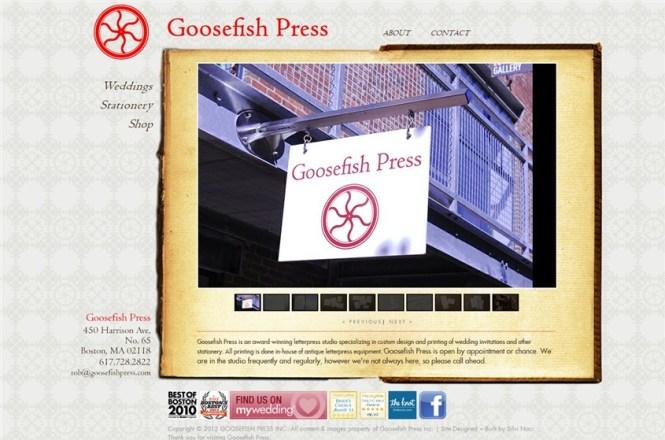 Goosefish Press Boston Wedding Invitations