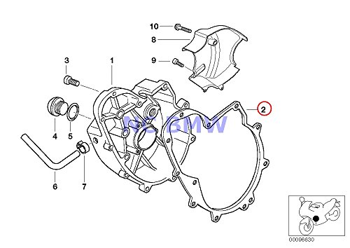 BMW Genuine Motorcycle Engine Housing Cover Right Gasket