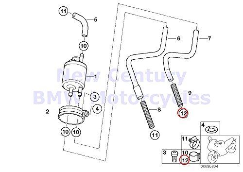 4 x BMW Genuine Fuel Distributor Pressure Regulator Hose