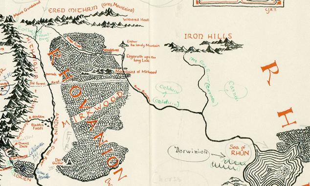 gamle kart til salgs Ringenes herre – F7 gamle kart til salgs