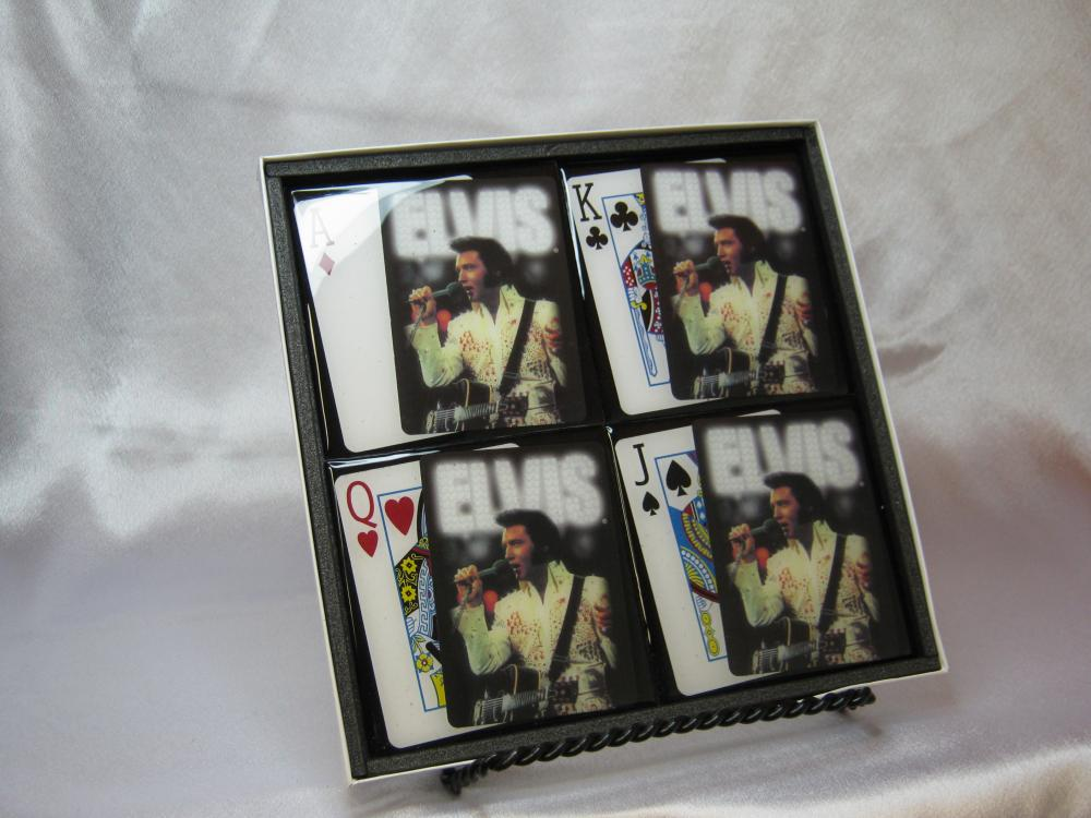 Elvis Presley Collector Playing Card Coaster Set On Luulla