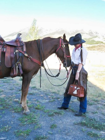 Docride on her ranch in Montana