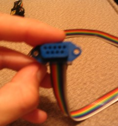 feed the wire through a blue db9 female connector  [ 2048 x 1536 Pixel ]