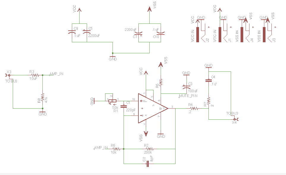 The schematic and board for the power supply of my amplifier