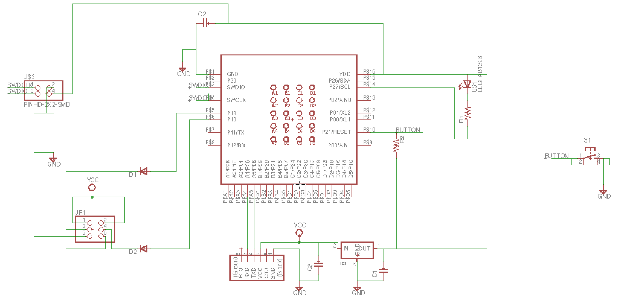hight resolution of once able to edit the schematic i re made the original board that sam had made and then added in 2 output pins with diodes for current protection