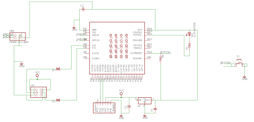 small resolution of once able to edit the schematic i re made the original board that sam had made and then added in 2 output pins with diodes for current protection