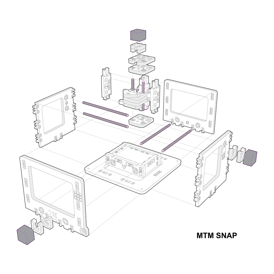 hight resolution of rebuilt 3d model of mtm snap machine