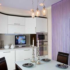 Kitchen Curtain Ideas Red Countertops 厨房里有吸引力的长丝窗帘 照片和想法 Fabalabs Org