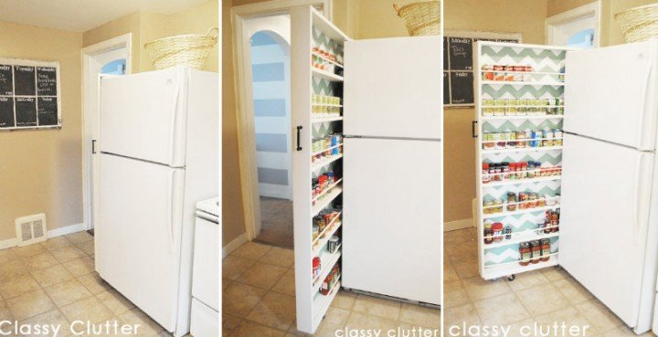 How To DIY Space Saving Pull-Out Pantry Cabinet