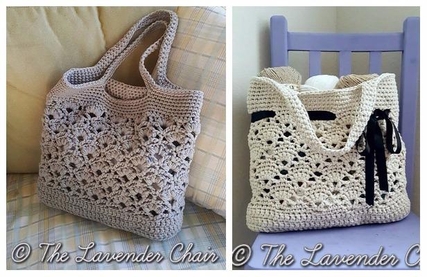 Crochet Tote Bag Free Patterns Tutorials